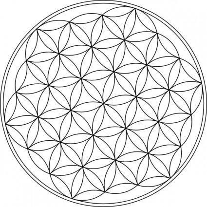 free vector Carlotheman Flower Of Life Symbol clip art