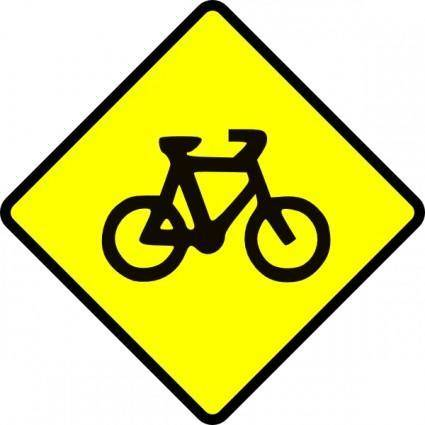 Caution Bike Road Sign Symbol clip art