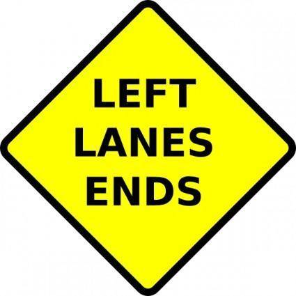 free vector Caution Left Lane Ends clip art