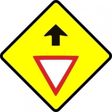 free vector Caution Give Way Sign clip art