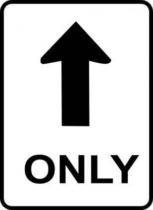 free vector One Way Sign clip art