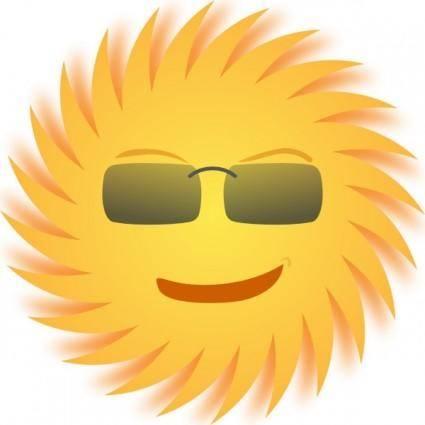 free vector Mr Sun clip art