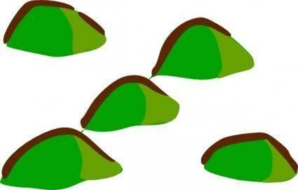 free vector Rpg Map Symbols Hills clip art