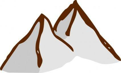 Map Symbols Mountains clip art