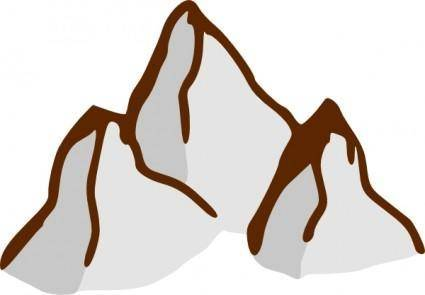 free vector Game Map Symbols Mountains clip art