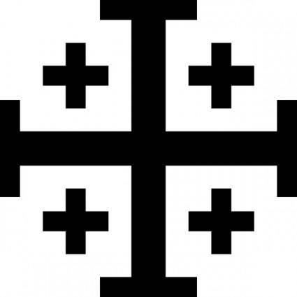 free vector Jerusalem Cross With Cross Potent (or Crusaders' Cross), A Symbol Of Traditional Heraldry clip art