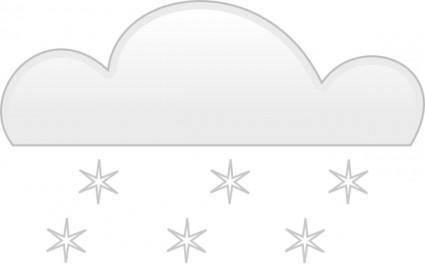 Snowfall clip art
