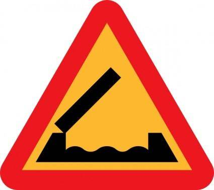 Retractable Bridge Roadsign clip art