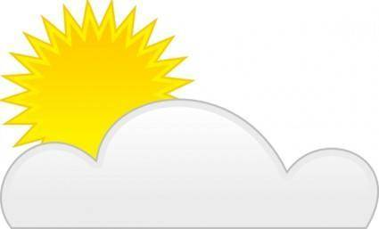 Sun Cloud clip art