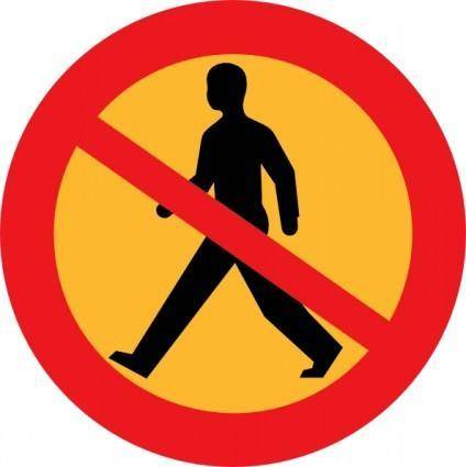 No Entry Sign With A Man clip art