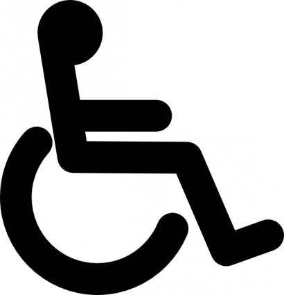 Disabled Wheel Chair Access Sign clip art