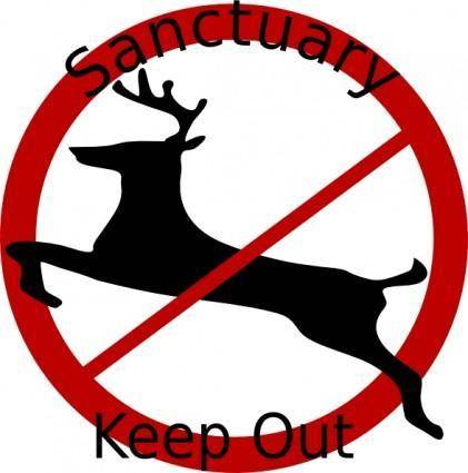 Deer Sanctuary Sign clip art