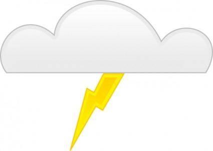 free vector Thunder clip art