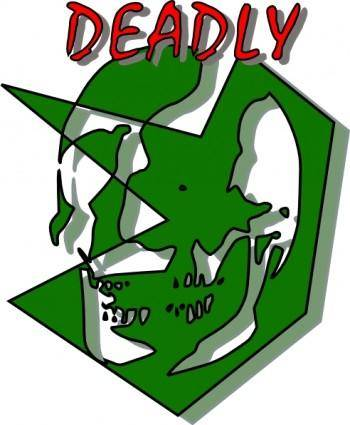 Deadly Sign clip art