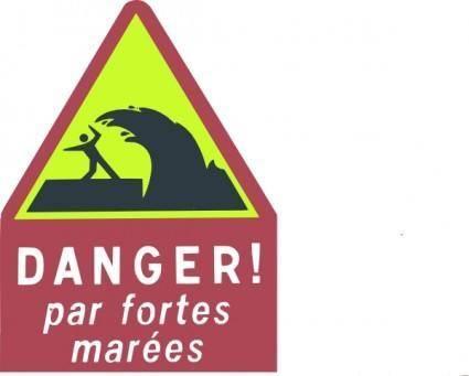 Danger High Waves clip art