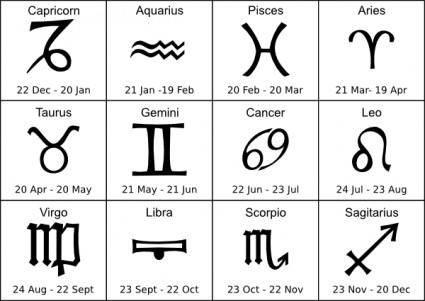 free vector Zodiak Sign clip art