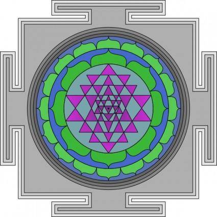 free vector Sri Yantra clip art