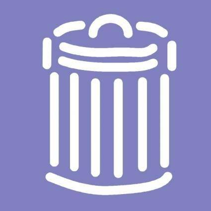 Trash Can Symbol Sign clip art