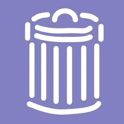 free vector Trash Can Symbol Sign clip art