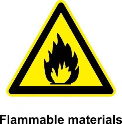 Sign Flammable Materials clip art