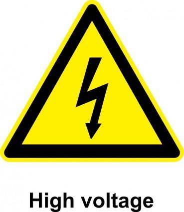 Sign High Voltage clip art