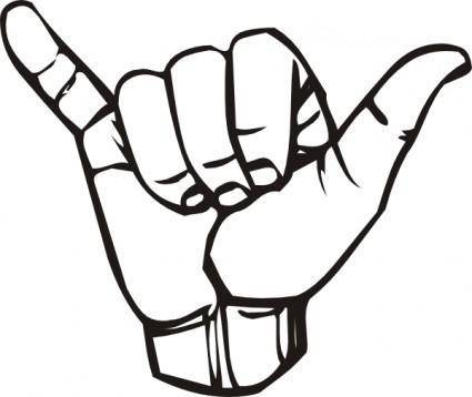Sign Language Y Hang Loose clip art