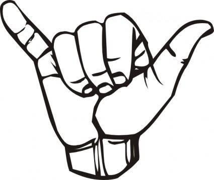 Sign Language Y Hang Loose clip art