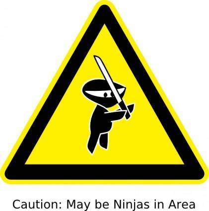 Ninja Sign clip art
