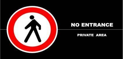 No Entrance Schedule, Private Area clip art