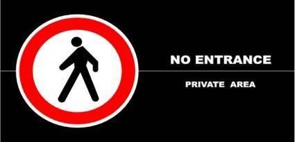 No Entrance Schedule, Private Area clip art