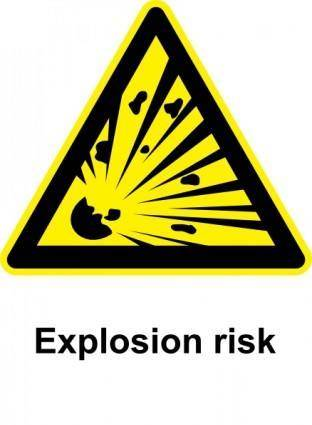 Sign Explosion Risk clip art