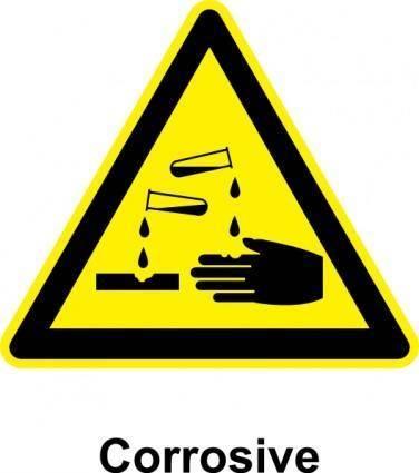 Sign Corrosive clip art