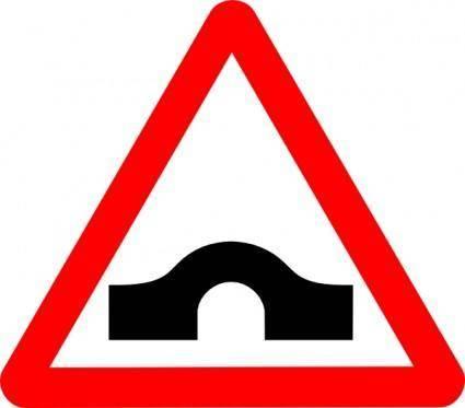 Bridge Road Sign clip art