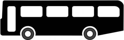 free vector Bus Symbol (black) clip art