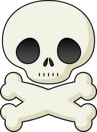 free vector Cute Skull clip art