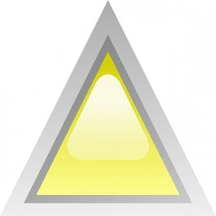 free vector Led Triangular 1 (yellow) clip art