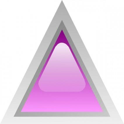 Led Triangular 1 (purple) clip art
