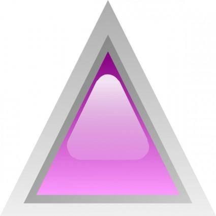 free vector Led Triangular 1 (purple) clip art