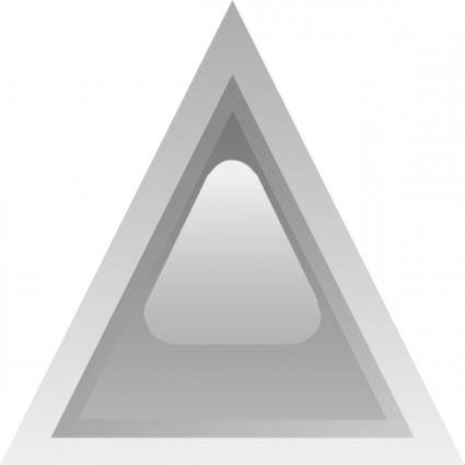Led Triangular 1 (grey) clip art