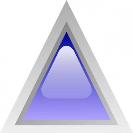 Led Triangular 1 (blue) clip art
