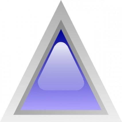 free vector Led Triangular 1 (blue) clip art