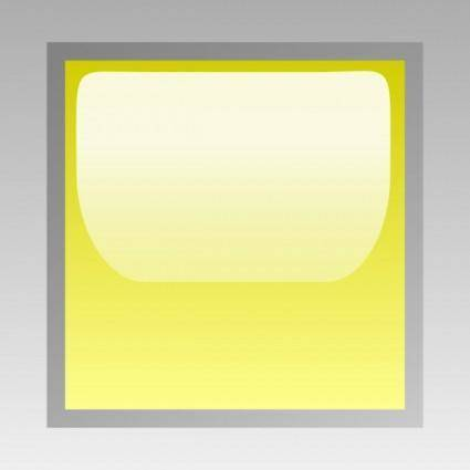 Led Square (yellow) clip art