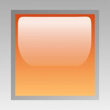 Led Square (orange) clip art