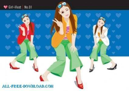 Free fashion vector 334
