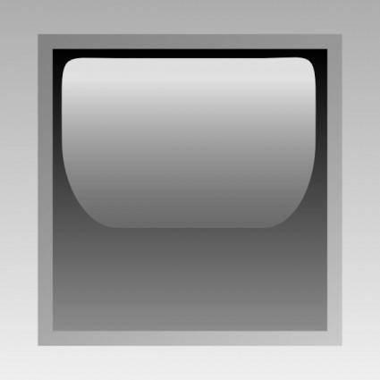 free vector Led Square (black) clip art