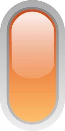 free vector Led Rounded V (orange) clip art