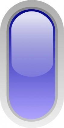 free vector Led Rounded V (blue) clip art