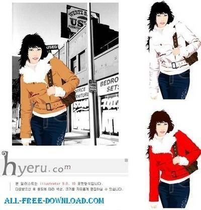 Free fashion vector 335