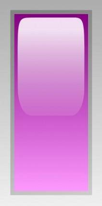 Led Rectangular V (purple) clip art