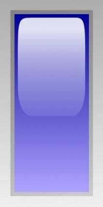 free vector Led Rectangular V (blue) clip art